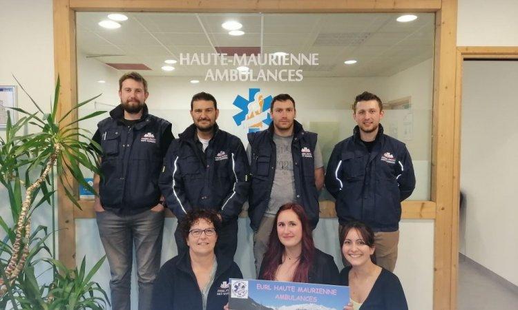 L'équipe Haute-Maurienne Ambulances et Taxis